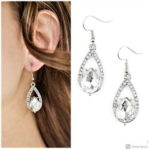 Gatsby Grandeur - Clear Faceted Teardrop Earrings